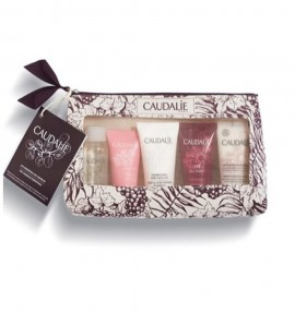 Caudalie Micellar Cleansing Water 30ml & Vinosource Moisturizing Sorbet 15ml & Gentle Conditioning Shampoo 30ml & Nourishing Body Lotion 30ml & The Des Vignes Shower Gel 30ml