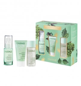 Caudalie Vinopure Blemish Control Infusion Serum 30ml & Purifying Gel Cleanser 30ml & Clear Skin Purifying Toner 50ml
